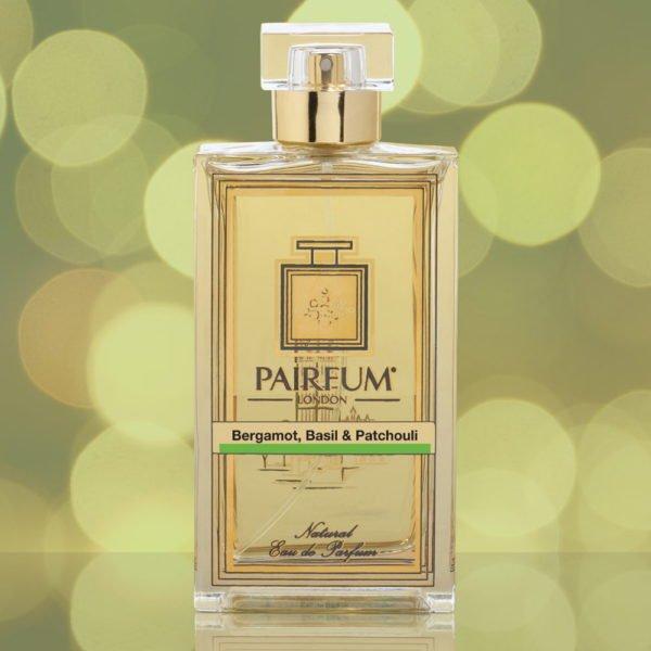 Eau De Parfum Bottle Bergamot Basil Patchouli Gold