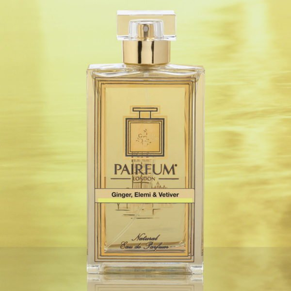 Eau De Parfum Bottle Ginger Elemi Vetiver Gold Foil