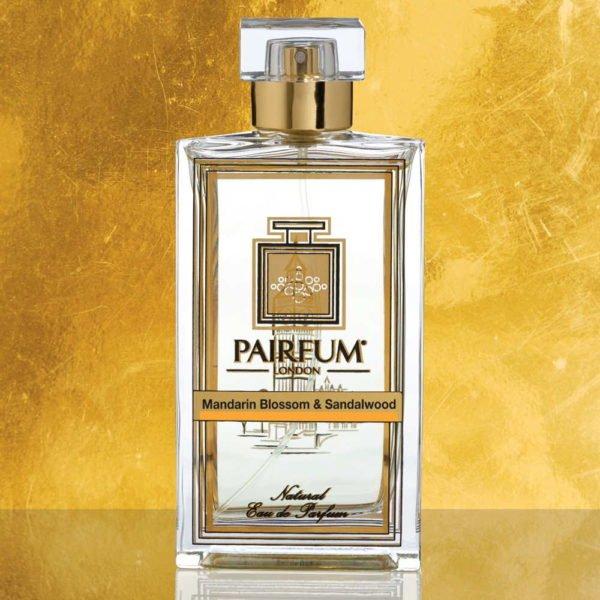 Eau De Parfum Bottle Mandarin Blossom Sandalwood Pure Foil