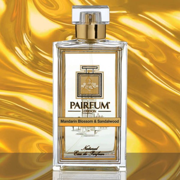 Eau De Parfum Bottle Mandarin Blossom Sandalwood Pure Liquid
