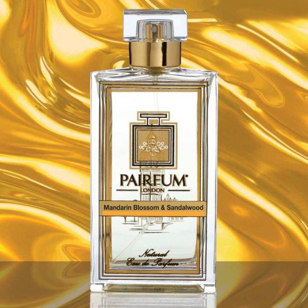 Eau De Parfum Bottle Mandarin Blossom Sandalwood Pure Liquid