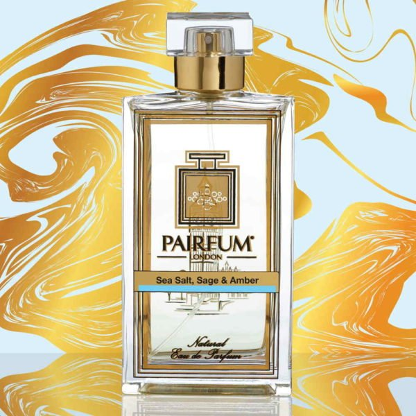 Eau De Parfum Bottle Sea Salt Sage Amber Pure Grain
