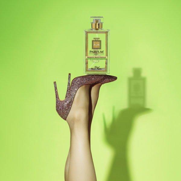 Pairfum Eau De Parfum Bottle Woman Legs Bergamot Basil Patchouli Square