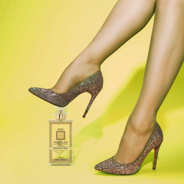 Pairfum Eau De Parfum Bottle Woman Legs Ginger Elemi Vetiver Square
