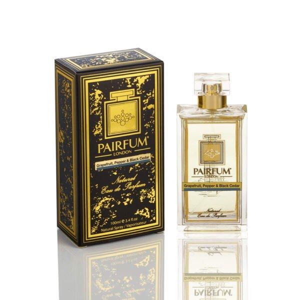 Pairfum Eau De Parfum Noir Bottle Carton Grapefruit Pepper Balck Cedar