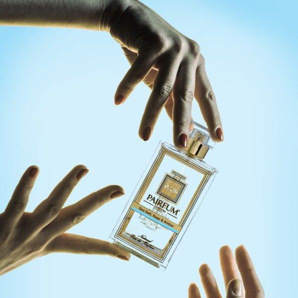Pairfum Eau De Parfum Bottle Hands Sea Salt Sage Amber Square