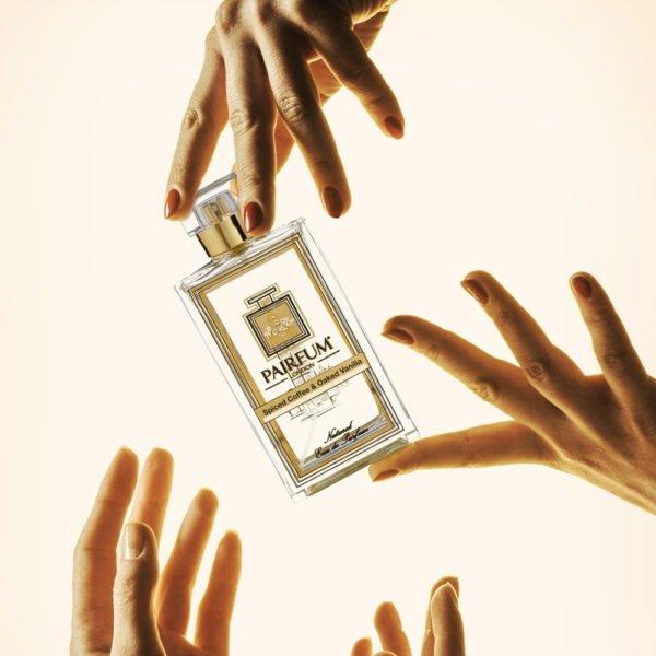Pairfum Eau De Parfum Bottle Hands Spiced Coffee Oaked Vanilla Square