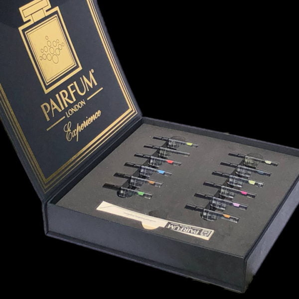 Pairfum Collection Niche Perfume Experience Fragrance Library Square Gift Box Open Display