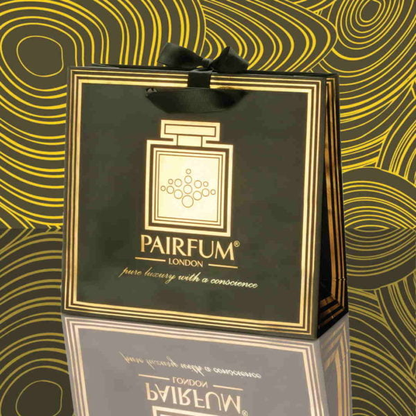 Pairfum Gold Black Luxury Carrier Bag Gift Classic Fluid