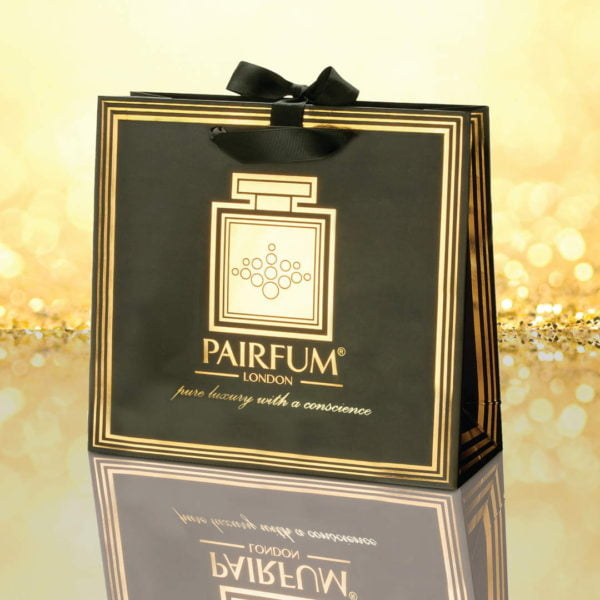 Pairfum Gold Black Luxury Carrier Bag Gift Classic Granule