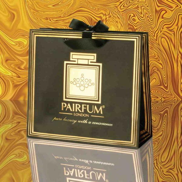 Pairfum Gold Black Luxury Carrier Bag Gift Classic Liquid
