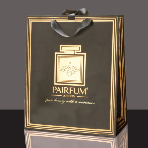 Pairfum Gold Black Luxury Carrier Bag Gift Large Black