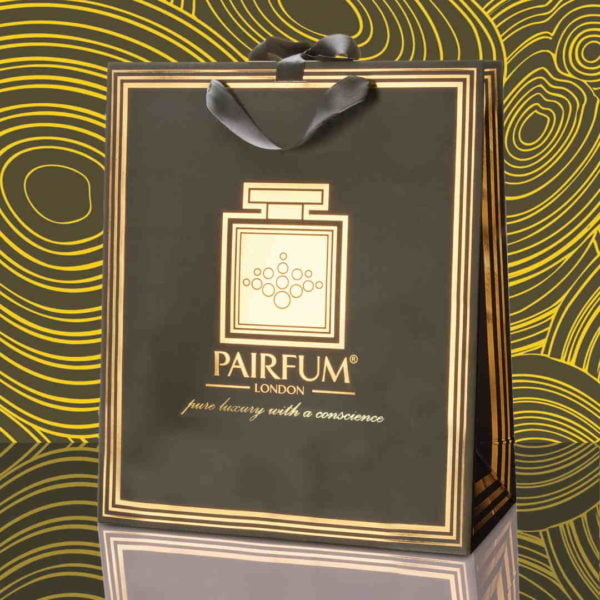 Pairfum Gold Black Luxury Carrier Bag Gift Large Fluid