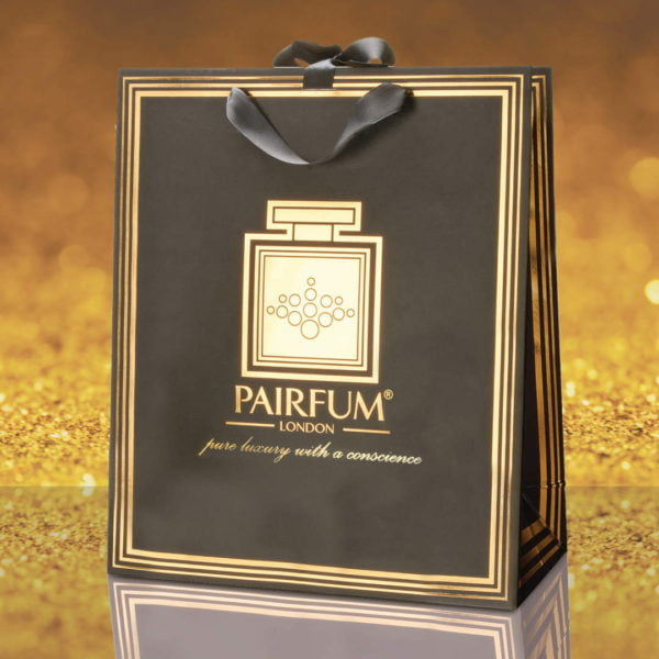 Pairfum Gold Black Luxury Carrier Bag Gift Large Grain