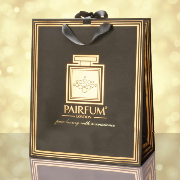 Pairfum Gold Black Luxury Carrier Bag Gift Large Light