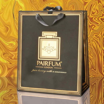 Pairfum Gold Black Luxury Carrier Bag Gift Large Liquid
