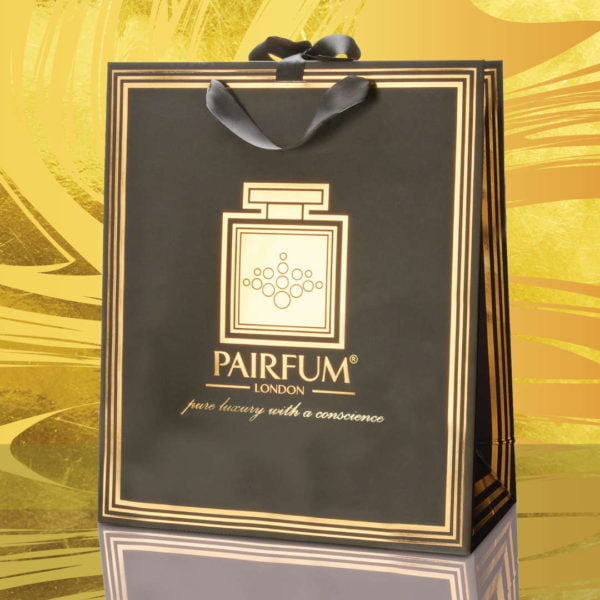 Pairfum Gold Black Luxury Carrier Bag Gift Large Swirl