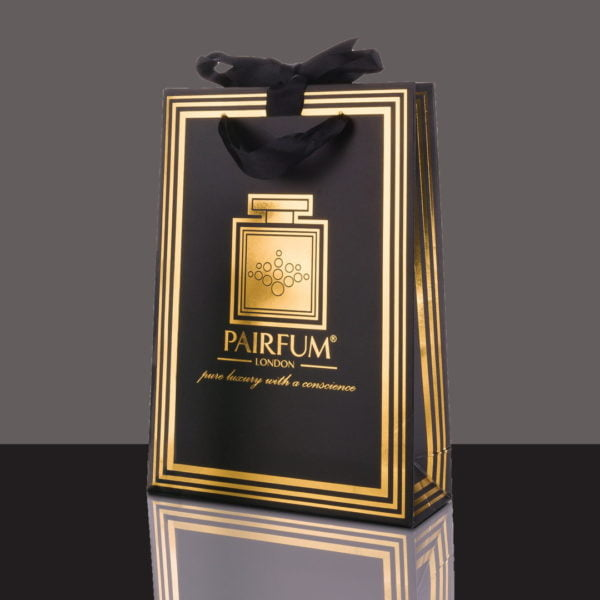 Pairfum Gold Black Luxury Carrier Bag Gift Small Black