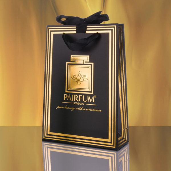 Pairfum Gold Black Luxury Carrier Bag Gift Small Flame