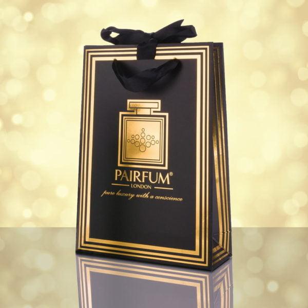 Pairfum Gold Black Luxury Carrier Bag Gift Small Light