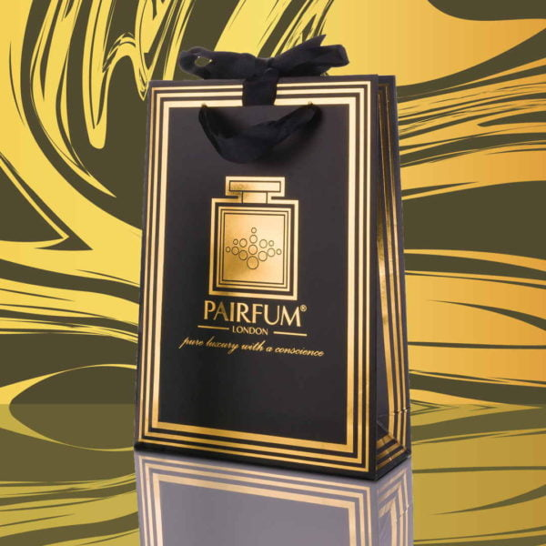 Pairfum Gold Black Luxury Carrier Bag Gift Small Swirl