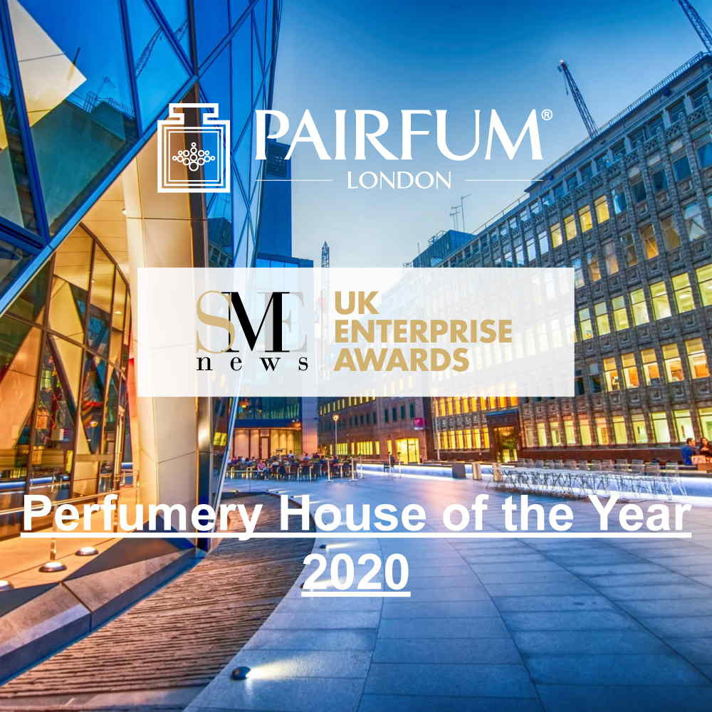 Winner SME News 2020 UK Enterprise Awards Perfumery House Year