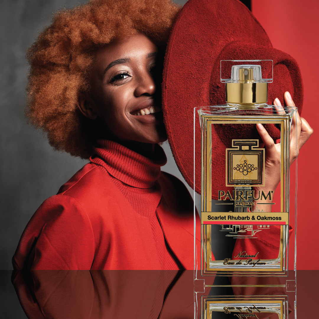 Eau De Parfum Person Reflection Scarlet Rhubarb Oakmoss Hat The Magic Of Perfume