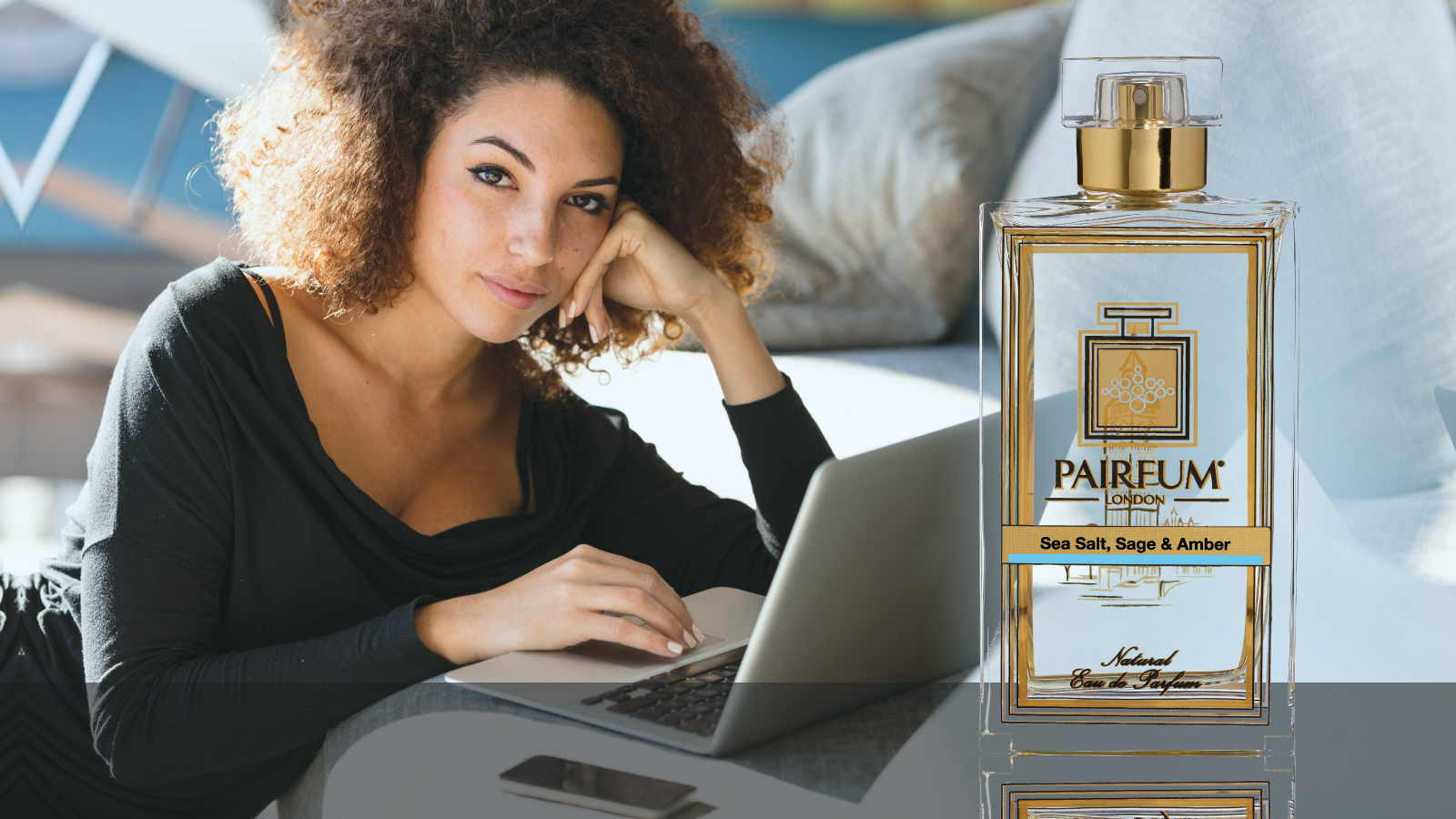 Eau De Parfum Person Reading Sea Salt Sage Amber Woman 16 9