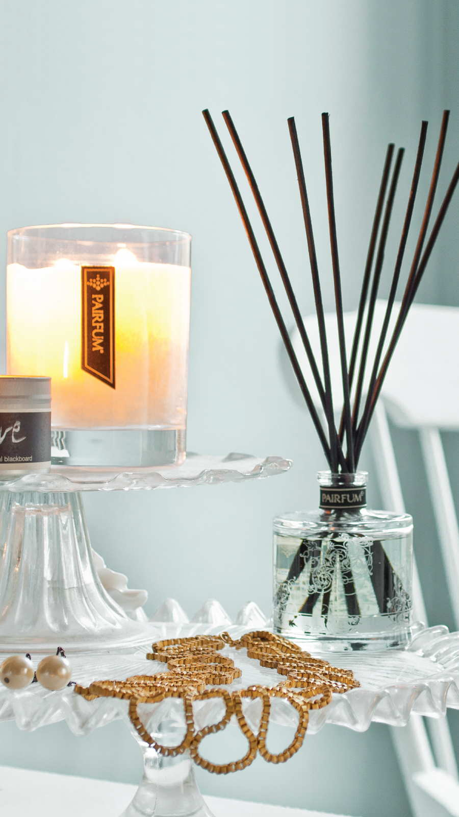 Lifestyle Living Room Natural Reed Diffuser Fragrance Candle 9 16