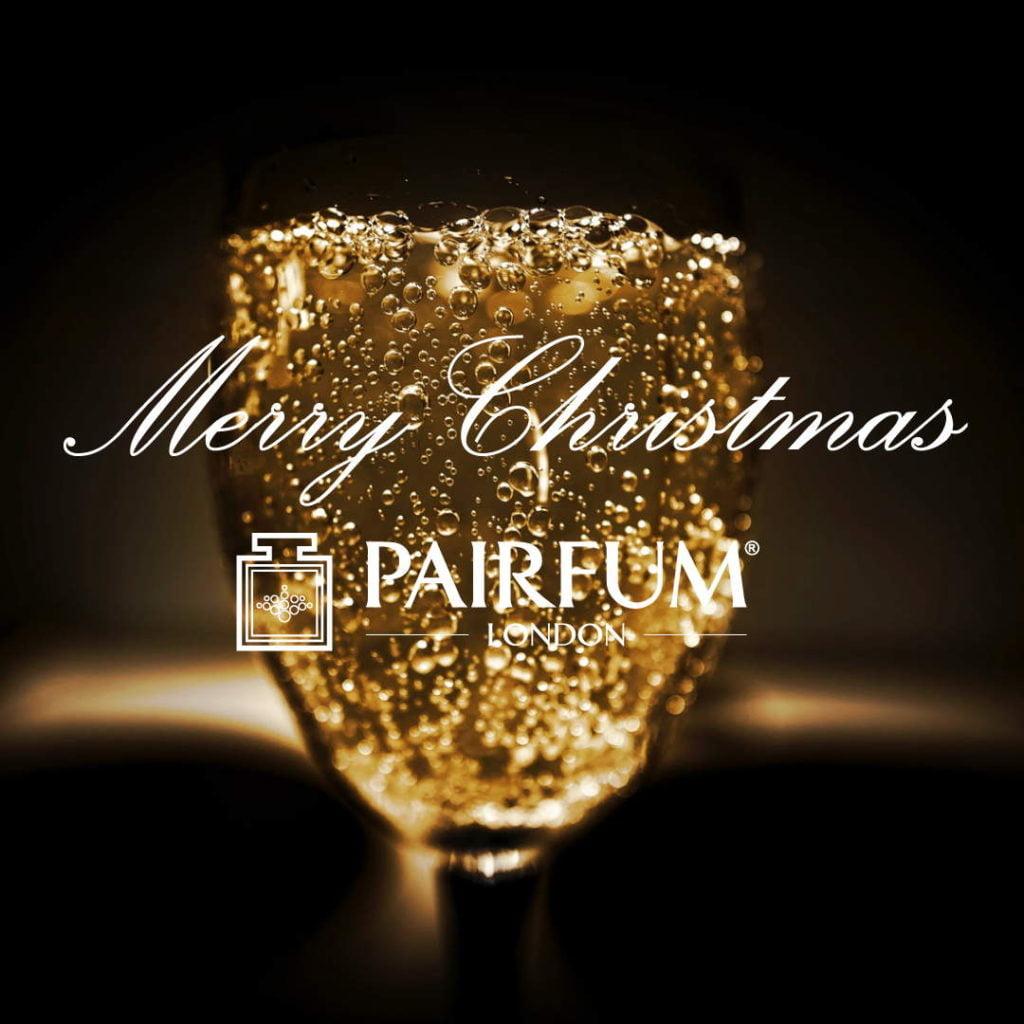 Merry Christmas 2020 Pairfum London Glass Champagne