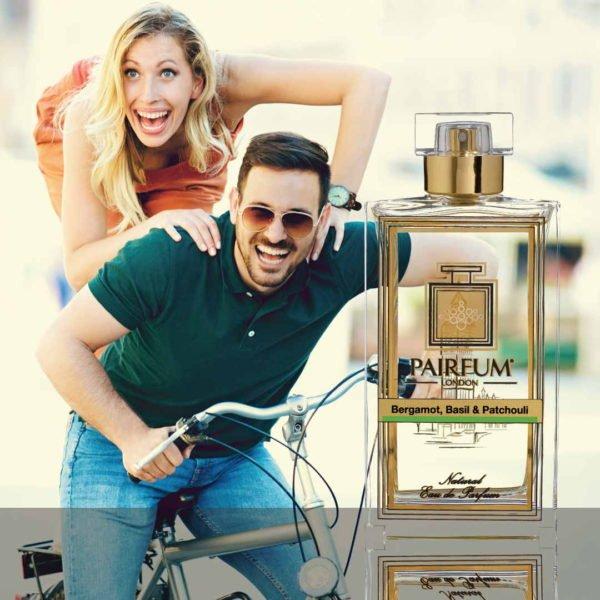 Eau De Parfum Person Reflection Bergamot Basil Patchouli Couple Bike 1 1