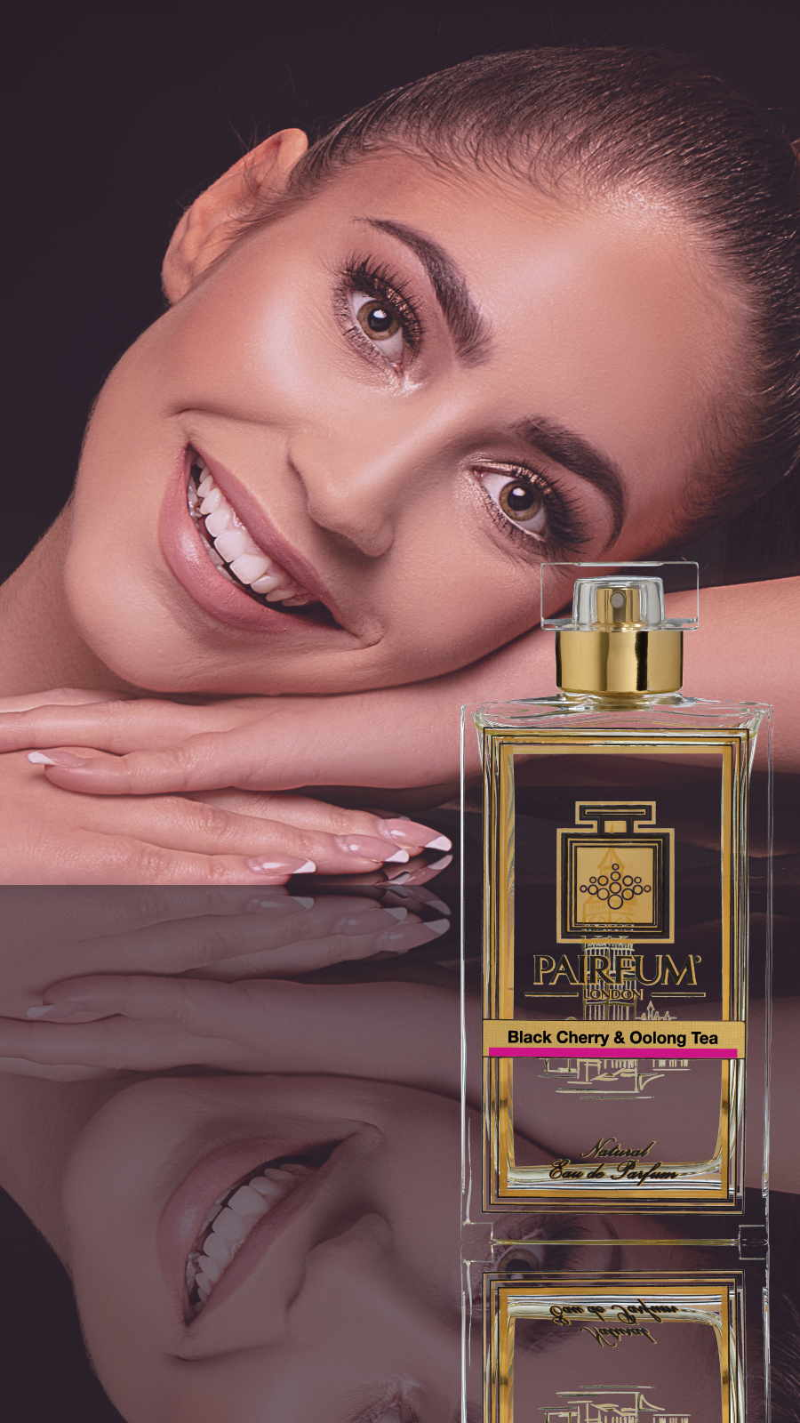 Eau De Parfum Person Reflection Black Cherry Oolong Tea Woman Arms 9 16