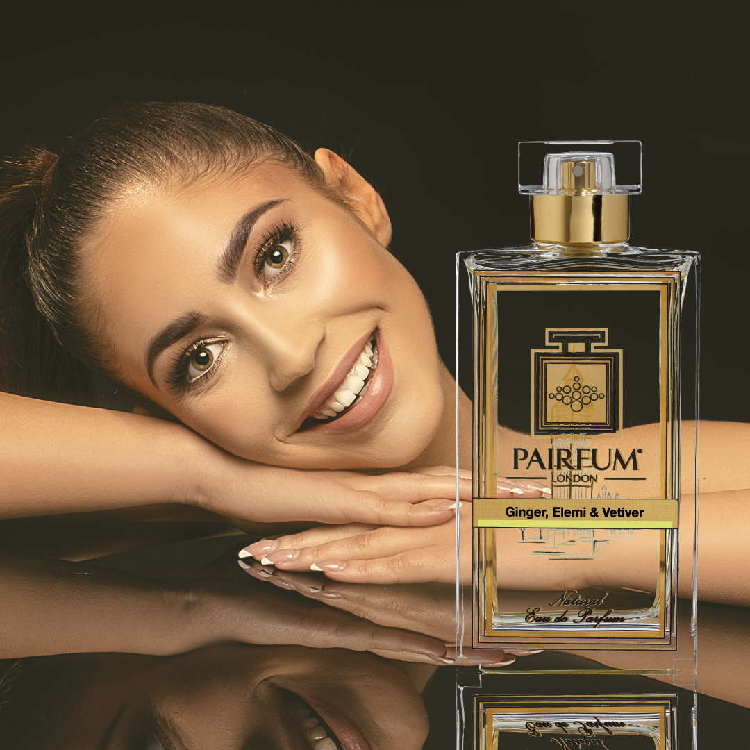 Eau De Parfum Person Reflection Ginger Elemi Vetiver Woman Smile 1 1
