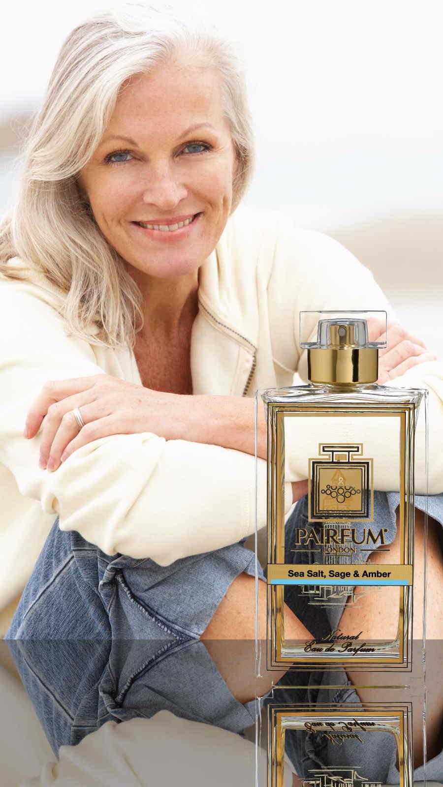 Eau De Parfum Person Reflection Sea Salt Sage Amber Woman Sand 9 16