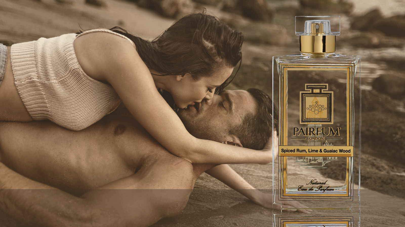 Eau De Parfum Person Reflection Spiced Rum Lime Guaiac Wood Couple Kiss 16 9