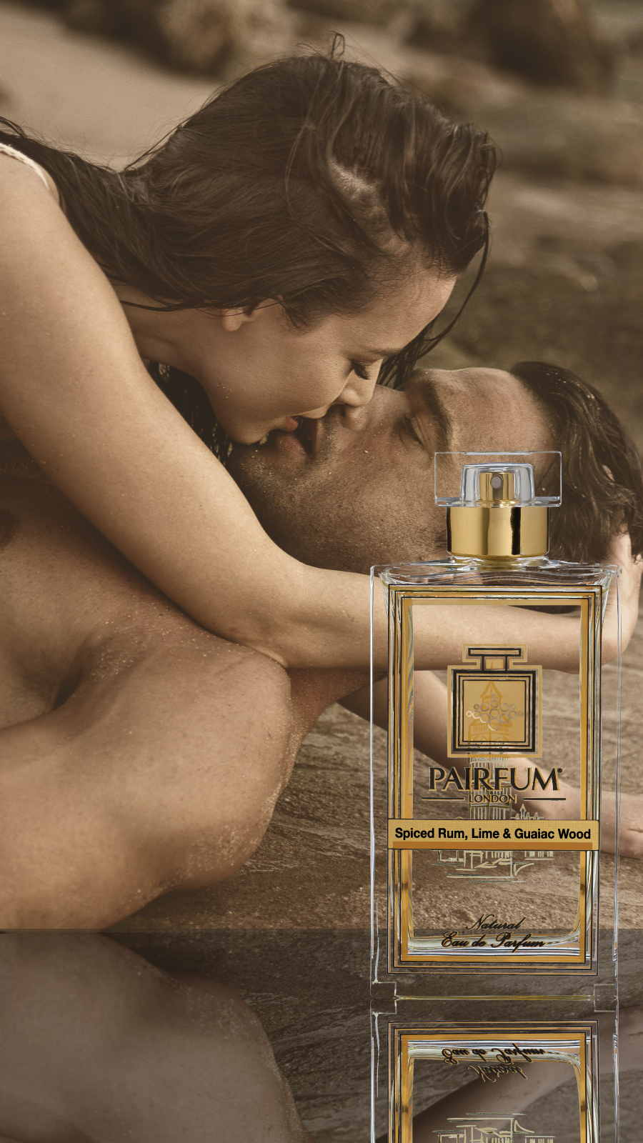 Eau De Parfum Person Reflection Spiced Rum Lime Guaiac Wood Couple Kiss 9 16