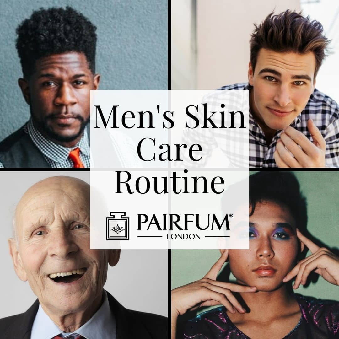 Men's Skin Care Routine Title Image