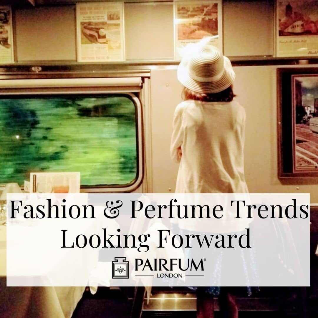 1940s Woman Standing On A Train Contemplating Emerging Perfume Trends 2021