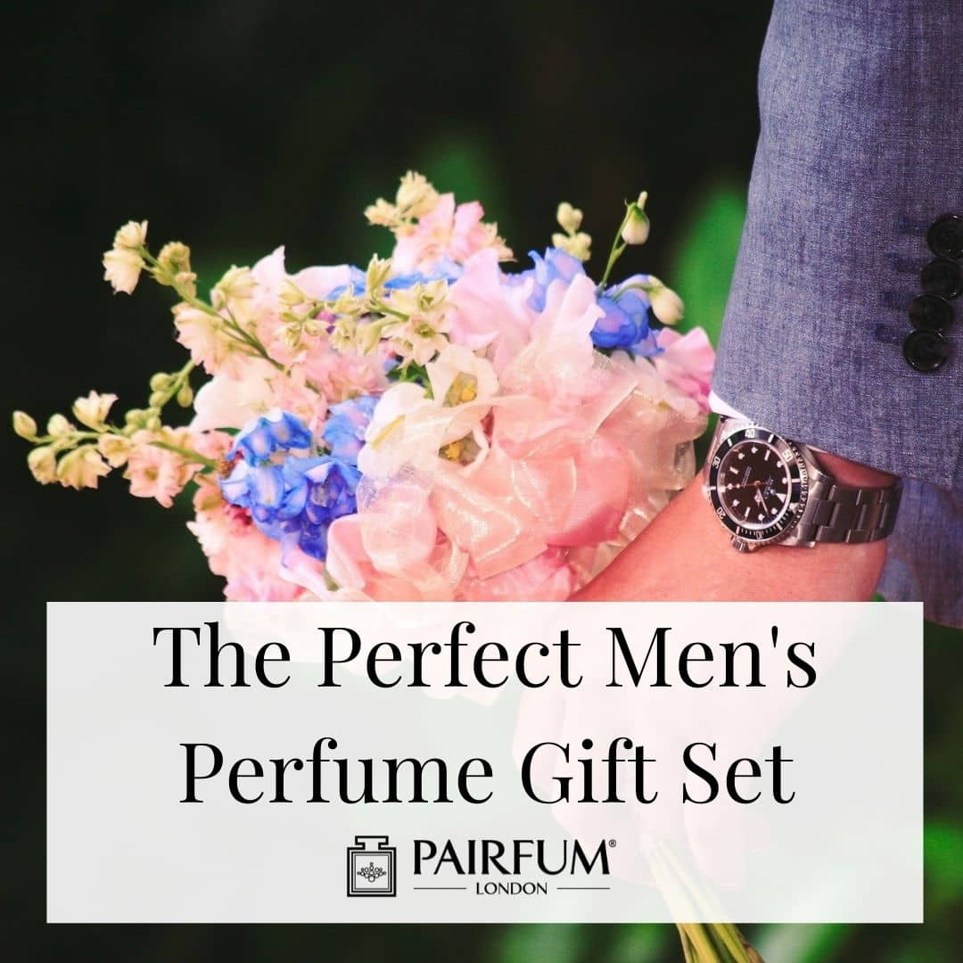 Floral men's perfume gift set