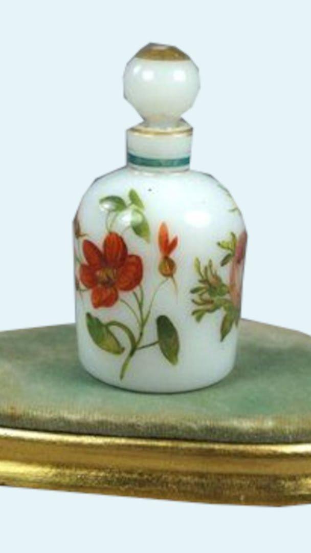 History Of Perfume Turn Of The Century White Perfume Bottle 9 16