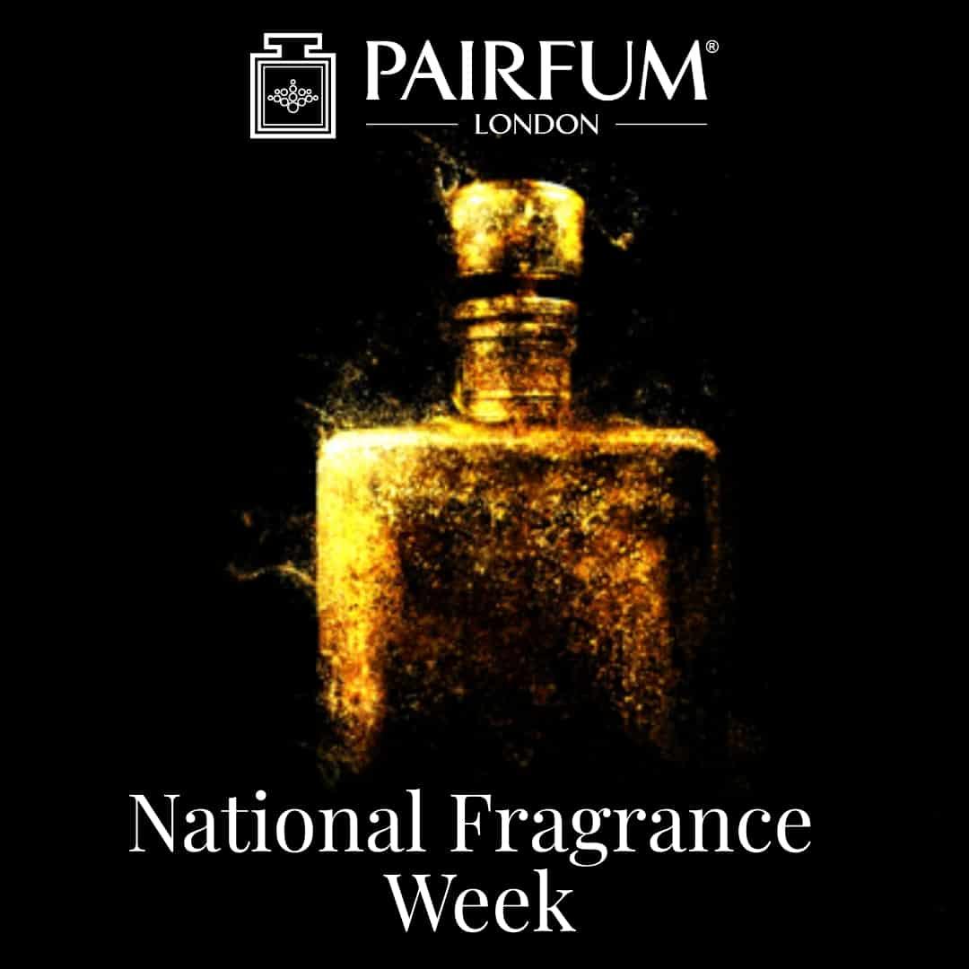 National Fragrance Week Gold Bottle