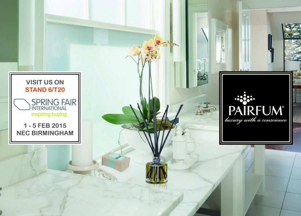 Pairfum at the Springfair 2015, fragrance reed diffuser, luxury scented candle, room fragrance, natural / organic / healthy / essential oil / hand-made in the UK