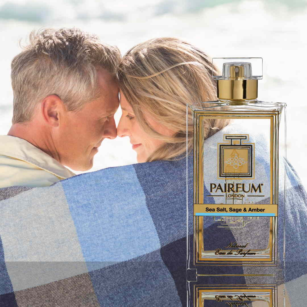 Eau De Parfum Person Reflection Sea Salt Sage Amber Couple Beach 1 1