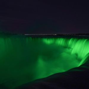 St Patricks Day Green Niagara Falls Canada Us