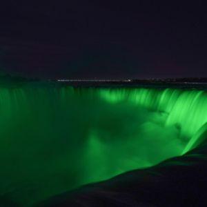 St Patricks Day Green Niagara Falls Canada Us