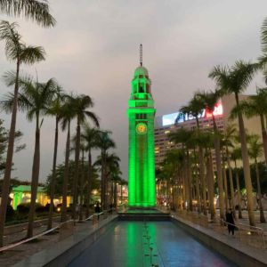 St Patricks Day The Clock Tower Hong Kong